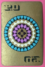 1 x Playing Card Single Swap P&O Shipping 4 suits card design 1960s ZS004 - $1.59