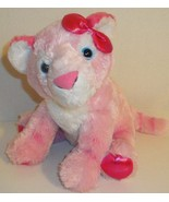 "AURORA WORLD GIRLZ NATION PINK TIGER CAT 12"" STUFFED PLUSH DOLL TOY LOVE... - $8.99"