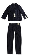 NEW DOMINI BOY'S KIDS JUNIORS 2 PIECE WESTERN STYLE WEDDING BAPTISM SUIT BLACK
