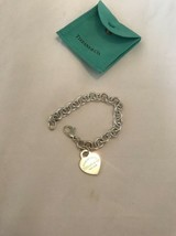 """Pre-owned Authentic """"Return to Tiffany"""" Heart Tag Charm Bracelet Serling Silver - $196.98"""