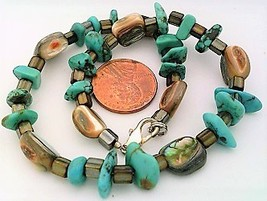 Turquoise Paua Shell Gemstone Anklet - $10.06