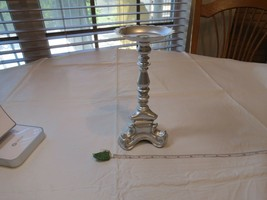 Rubel Candle holder stick silver Pillar vintage PEALING metal home decor... - $32.15