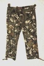 Arizona Jean Girls Pants Sz  Plus 12.5 Camouflage Cargo Drawstring Schoo... - $19.79