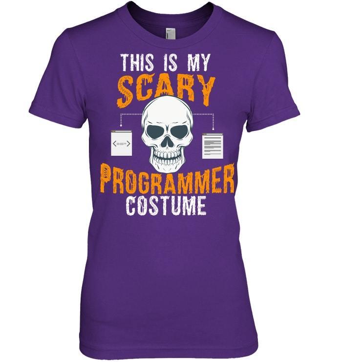 Funny Scary Programmer Halloween Costume Tshirt