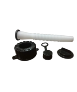 (6 PACK) QUALITY GAS CAN SPOUT WITH GASKET, CAP, STOPPER AND REAR VENT CAP - $34.64
