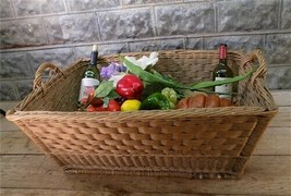 Rectangular Wicker Basket, Vintage German Woven Basket, Storage Organize... - $149.00