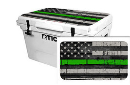 "RTIC Wrap ""Fits Old Mold"" 65qt Cooler 24mil Lid Kit USA Green Line Flag - $36.95"