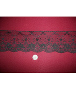 """4 1/4 """"  Delicate Victorian Black  Lace  - (10 yards) .85 a yard - $8.50"""