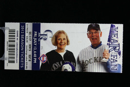 Colorado Rockies vs Philadelphia Phillies MLB Ticket w Stub 07/13/2012 Year Fan - $8.17