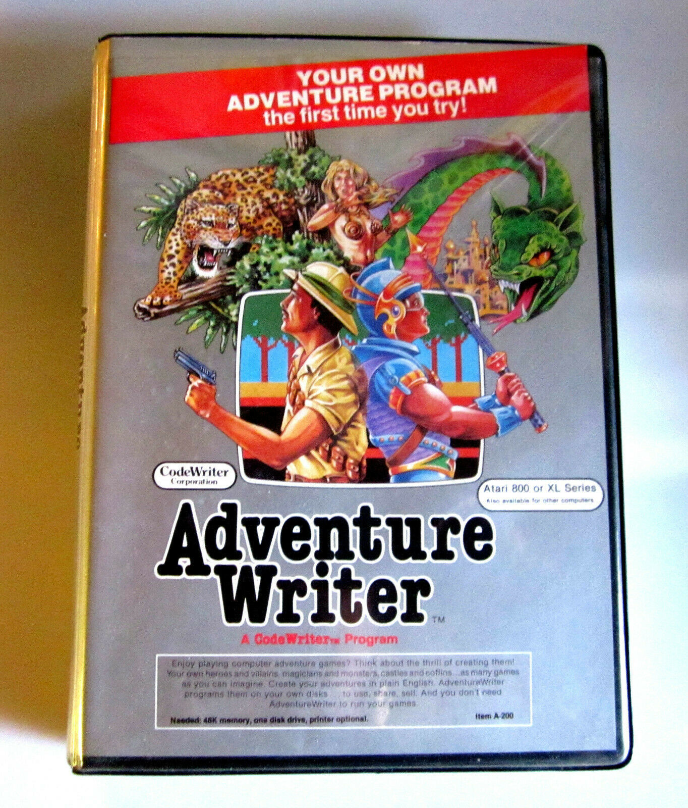 "Primary image for Atari 800|XL Code Writer Software ""Adventure Writer"" 1984 by CodeWriter Inc."