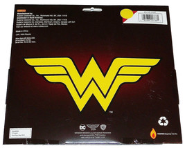 NEW Girls Kids DC Comics Dress Up Costume Halloween Red Yellow Wonder Woman Cape image 2