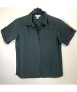 Dress Barn Linen Shirt Tab Sleeve Womens Plus Size 14 16 14W 16W - $29.69
