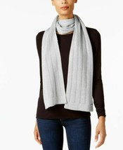 Michael Kors Womens Vertical Stitch Silver Metallic Scarf (Gray) - $64.90