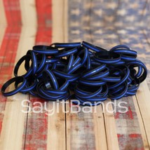 200 Thin Blue Line Wristbands - Police Law Enforcement Awareness Bracelet Bands - $87.99