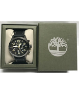Timberland TBL15249JSU02 Black Leather Band Stainless Steel Case Men's W... - $95.79