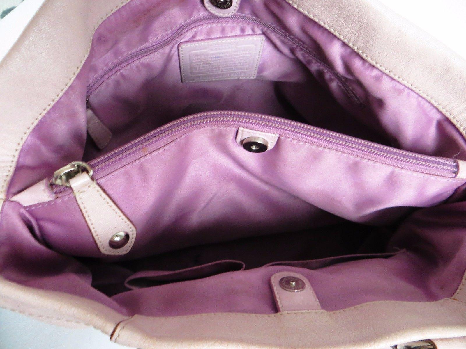832587e746 ... cheapest coach ashley lilac leather carryall satchel shoulder bag purse  crossbody pink eeed6 7b0b0 ...