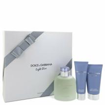 Dolce & Gabbana Light Blue Pour Homme Cologne 4.2 Oz EDT Spray 3 Pcs Gift Set  image 1