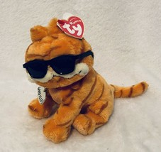 """Ty Garfield The Cat Cool Cat B EAN Ie Baby Babie Plush Toy Mint With Mint Tags 8"""" - $14.97"""