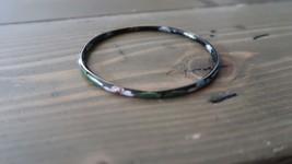 Vintage Black Beautiful Colored Black Cloissone Bangle Bracelet - $19.79