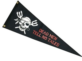 "Dead Men Tell No Tales Boat Pennant 12X36"" NEW Triangle Flag Pirate Joll... - $23.27"