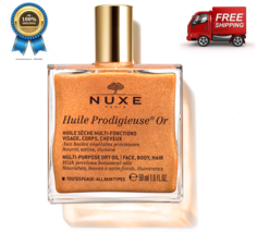 Nuxe Huile Prodigieuse Or, MULTI-USAGE Shimmering Dry Oil 50ML - $35.07