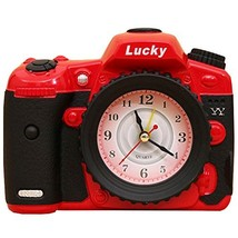 George Jimmy Creative Alarm Clock Fashion Wake Up Alarm Clocks - Camera Red - $21.36