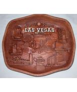 Rare ASMCO Vintage Las Vegas Nevada Souvenir Wall Plaque Tray, Free Ship... - $26.57