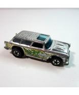 Vintage 1975 Mattel Hot Wheels Alive '55 Chevy Nomad Super Chromes Dieca... - $12.99