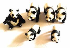 246daisy Lot of 6 Panda Bear Toy Figurines - $20.57