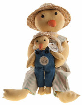 Country WILLARD & WILEY DUCK DOLL Primitive Spring Easter Farmhouse Rustic - $53.99