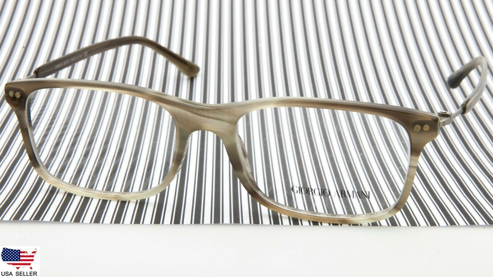 Primary image for NEW GIORGIO ARMANI AR 7024 5183 STRIPED OLIVE EYEGLASSES FRAME 53-17-140mm Italy