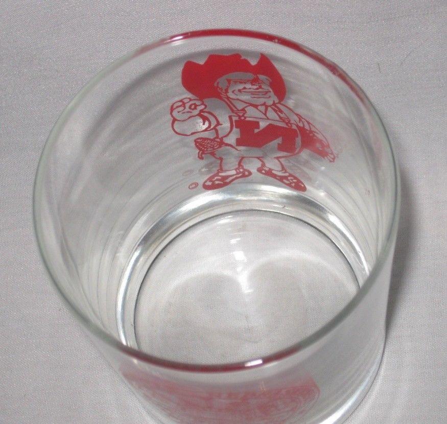 "Neat Vintage 4 1/4"" Nebraska Harry Cornhusker Drinking Glass"