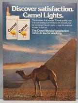 Vintage Magazine Ad Print Design Advertising Camel Lights Cigarettes - $12.86