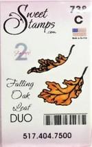 Sweet Stamps Falling Oak Leaves Duo Stamp Set image 1
