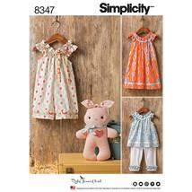 Simplicity Ruby Jeans Closet Toddler Dress Top Capris Bunny-1/2-1-2-3-4 - $14.96