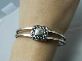 VTG Silver Tone Square Weave Clasp Bracelet  - $5.94