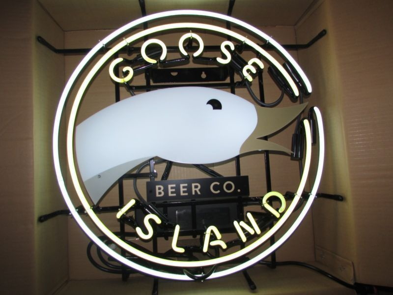 """New Goose Island Beer Bar Neon Light Sign 24""""x20"""" Ship From USA"""