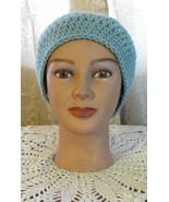 Blue Messy Bun Ponytail Beanie Hat - $12.95