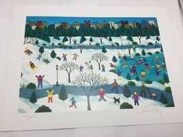 Signed Limited Edition ART Print Joanne Netting – Central Park in Winter... - $24.75