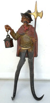 Antique Black Forest German hook rack figural Nightwatcher wood handcarv... - $400.00