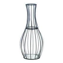 Tall Glass And Metal Vase - $43.33