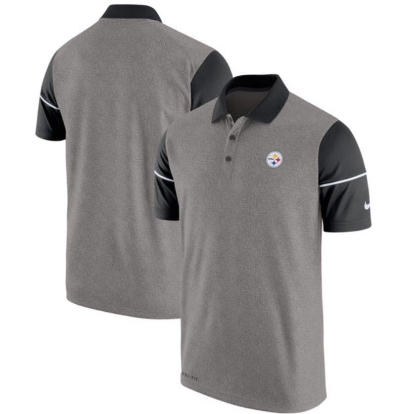 32c9679c5 Pittsburgh Steelers NFL Nike Dri-Fit Championship Drive L Golf Polo Shirt   80
