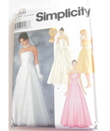Simplicity 7068 Wedding Gown Craft Sewing Pattern Bridesmaid Formal 14 1... - $9.95