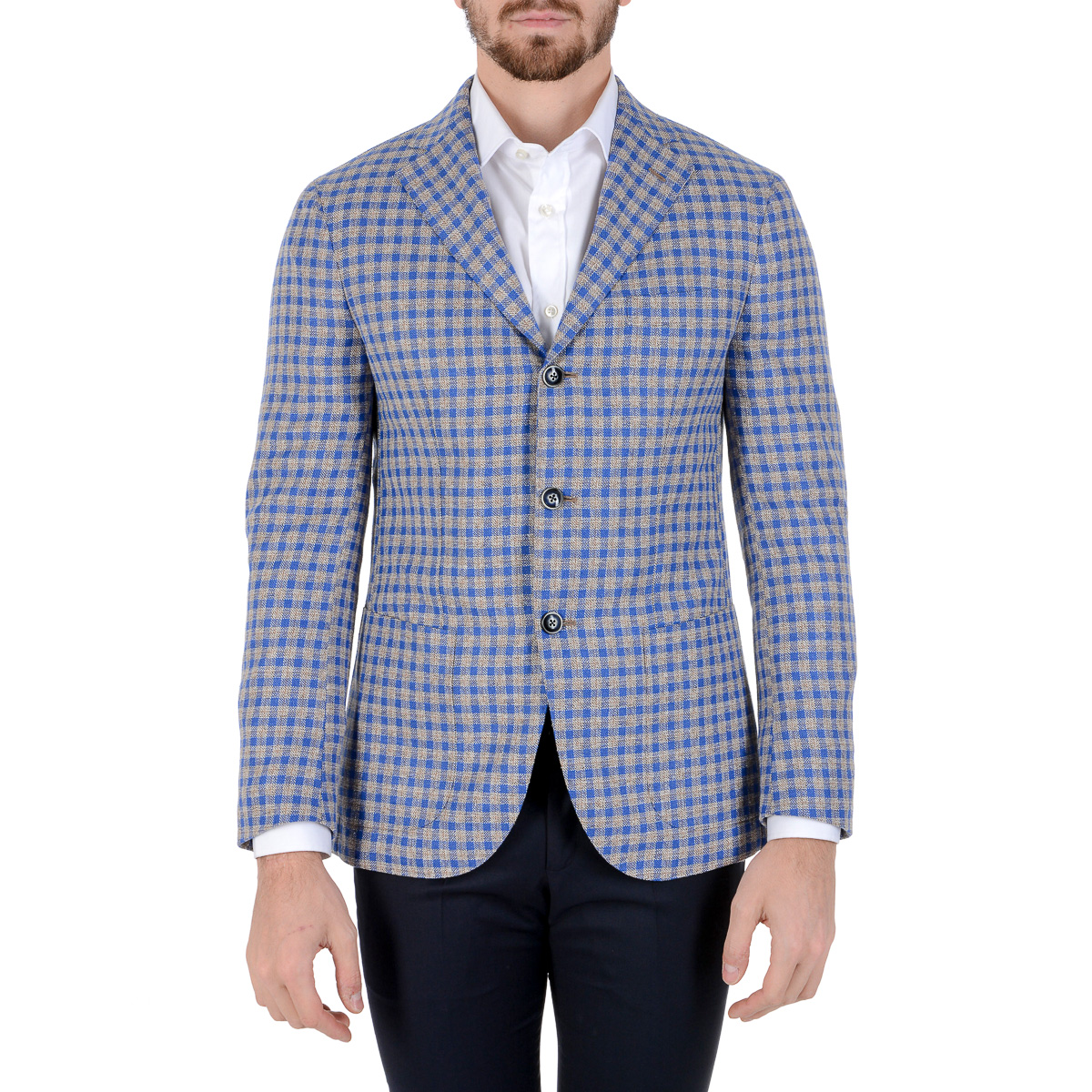 Primary image for Barba Napoli Mens Jacket Long Sleeves Checked
