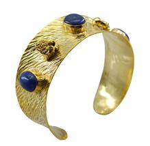 adorable Multi Gemstone Gold Plated Multi Bangle genuine jewelry US gift - $21.77