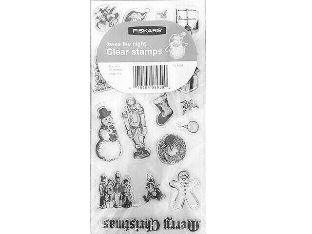 Fiskars 'twas the Night Clear Stamp Set #12-8959