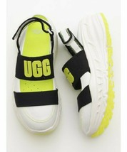 UGG 1097452 Slingback Runner Sandals White/Black/Yellow ( 8 ) - $103.36