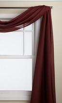 LORRAINE HOME FASHIONS Reverie 60-inch x 216-inch Scarf, Burgundy - $39.81
