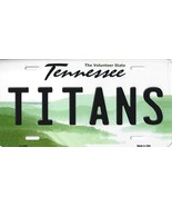 Titans Tennessee State Background Metal License Plate Tag (Titans) - $11.95