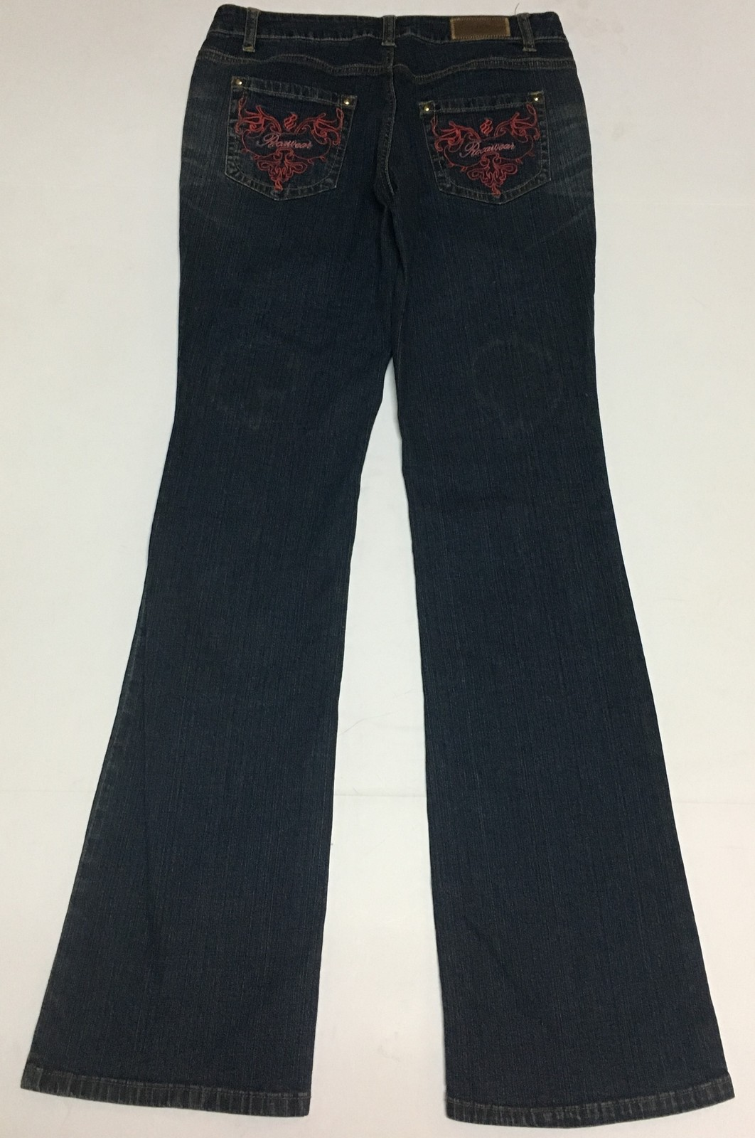 Rocawear Women's Jeans Sz 7 (28 x 32) Flare Embroidered NWT Dark Wash
